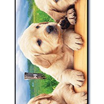 Dimension 9 Slim 3D Lenticular Cell Phone Case for Apple iPhone 5 or iPhone 5s - Golden Retriever Puppies, Dog