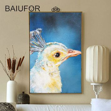BAIUFOR Diamond Painting Cross Stitch Peacock Diamond Mosaic Embroidery Rhinestones Pictures Arts Crafts diy Hobby Home Decor