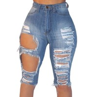 BERMUDA DISTRESSED SHORTS
