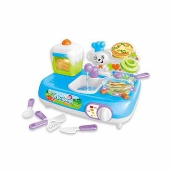 Mini Kitchen Sink Playset With Sound And Color Changing For Real Cooking