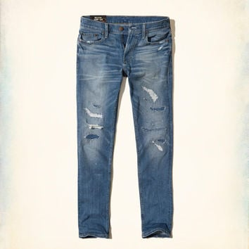 Guys Ripped and Repaired Skinny Jeans | Guys Bottoms | HollisterCo.com