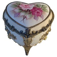 One Kings Lane - Heart-Shaped Musical Ring Box