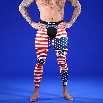 American Flags Tights for Men