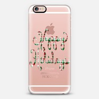 Happy Holidays Plaid (transparent) iPhone 6s case by Lisa Argyropoulos | Casetify