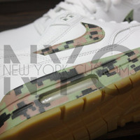 Nike Air Max 1 PA White Gum Digital Camo Custom Men Air Max 90