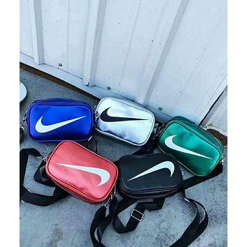 NIKE Tide brand men and women casual versatile fashion shoulder bag pockets Messenger bag