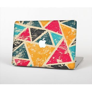 The Chipped Colorful Retro Triangles Skin Set for the Apple MacBook Air 13""