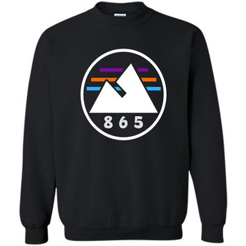 865 Mountains Circle T-Shirt Printed Crewneck Pullover Sweatshirt 8 oz