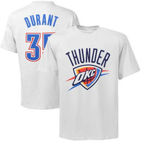 Majestic Kevin Durant Oklahoma City Thunder Player T-Shirt - White