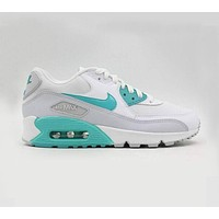 NIKE AIR MAX 90 Fashion Women Men Leisure Sport Running Shoe Sneakers White Blue I