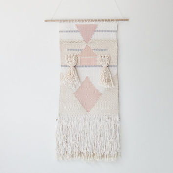 handwoven wall hanging tapestry weaving   no. 082014