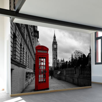 Telephone Booth Wall Mural