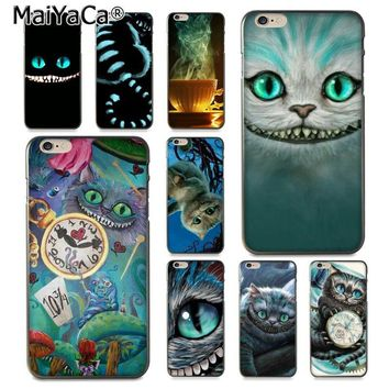 MaiYaCa Alice in Wonderland Chesire Cat Mask  Ultra Thin Pattern Phone Case for iPhone 8 7 6 6S Plus X 10 5 5S SE 5C Coque Shell