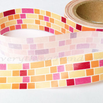 Washi Tape / Japan Sticky Adhesive Tape / Decorative Masking Tape Scrapbooking Tools Favor Stationery Pixel 10m j10