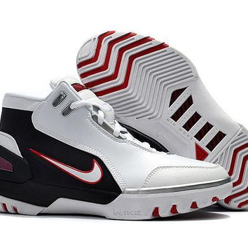 Beauty Ticks Nike Lebron James 1 Retro White/black Men Basketball Shoes