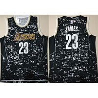 La Lakers #23 Lebron James Luminous Swingman Jersey