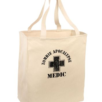 Zombie Apocalypse Group Role Medic Large Grocery Tote Bag