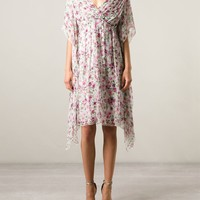 Dolce & Gabbana Floral Pink Dress - Profile - Farfetch.com