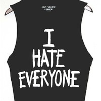 I HATE EVERYONE Unisex Muscle Tee