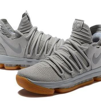 DCCKD9A Nike Zoom KD 10 Light Gray Basketball Shoe