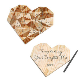 Wooden Heart Jigsaw Puzzle Mint