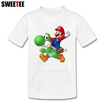 Super Mario party nes switch  Bros Yoshi Boy Girl T Shirt Baby Tees 2018 Infant 100% Cotton Tshirt Crew Neck Kid children's T-shirt For Toddler AT_80_8