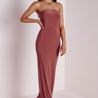 Missguided - Slinky Tube Dress Dark Pink