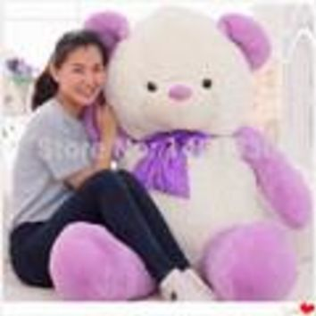 Teddy bear plush valentine's day purple teddy bears giant stuffed bear toys