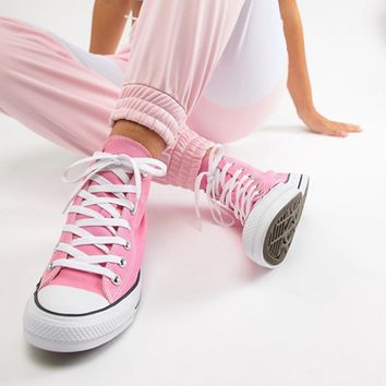 Converse Chuck Hi Taylor Trainers In Pink at asos.com
