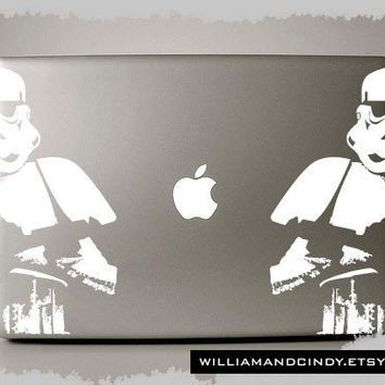 Storm Trooper  Macbook Pro Decal by williamandcindy on Etsy