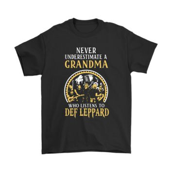 ESBV4S Never Underestimate Grandma Who Listens To Def Leppard Shirts