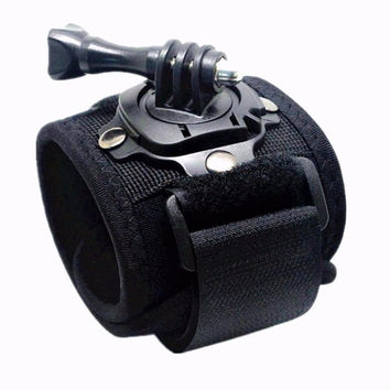 360 Degree GoPro Wrist Mount - Banded Strap And Screw
