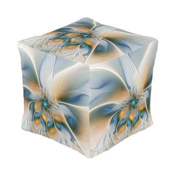 Soaring, Abstract Fantasy Fractal Art With Blue Pouf