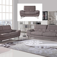 Divani Casa Potash Modern Taupe Fabric Sofa Set