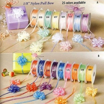 Iridescent Pull Bow Ribbon Gift Wrapping, 50-yard, 1/8-inch