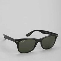Ray-Ban Polarized Carbon Fire Wayfarer Sunglasses- Black One