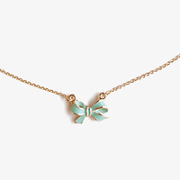 Lacuqered Bow Necklace | FOREVER 21 - 1039826633