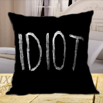 5SOS Idiot on Square Pillow Cover