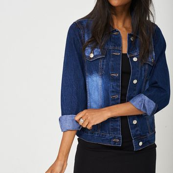 Denim Jacket In Blue Ex-Branded