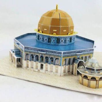 Educational 3D Model Puzzle Jigsaw Golden Mosque DIY Toy