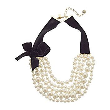 Kate Spade New York Girls In Pearls Choker Necklace