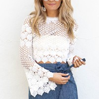 Remarkable White Crochet Crop Top
