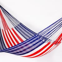 American Flag Hammock Family Size by Yellow by YellowLeafHammocks