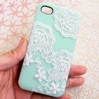 Handmade Lace Case For iPhone 5/5S