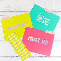 Neon Hologram Folders {9 Count}