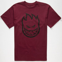 Spitfire Big Head Mens T-Shirt Burgundy  In Sizes