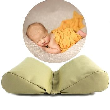 PU Leather Newborn Photography Props Cycle Wedge Shaped Pillow Baby Photo Prop Backdrop Basket Stuffer Atrezzo Fotos 3 Colors