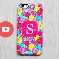 Colorful Flowers Monogram iPhone 6 Case iPhone 6 plus Case Custom Initial iPhone 5S Case iPhone 5C Case Galaxy S6 Edge S5 S4 Case 068 - Edit Listing - Etsy