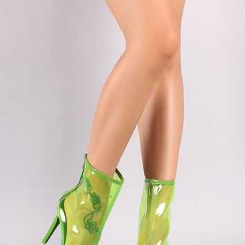 Transparent Stiletto Ankle Boot