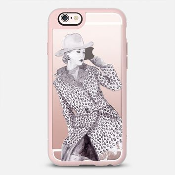 Leopard Jacket Lady iPhone 6s case by Susanna Nousiainen | Casetify